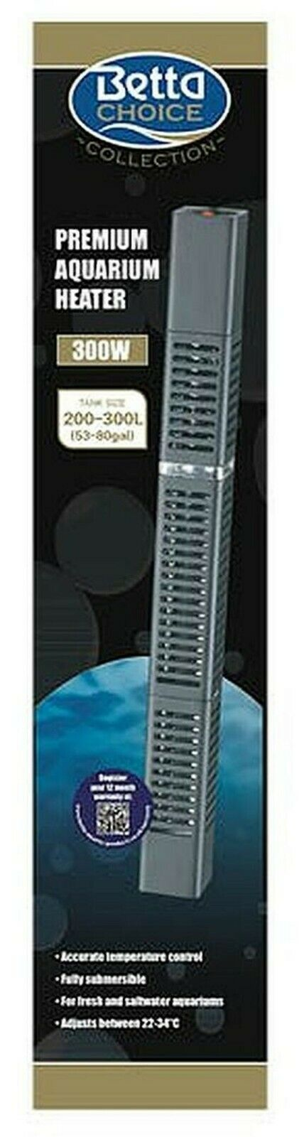 Betta Premium Aquarium Heater 300w
