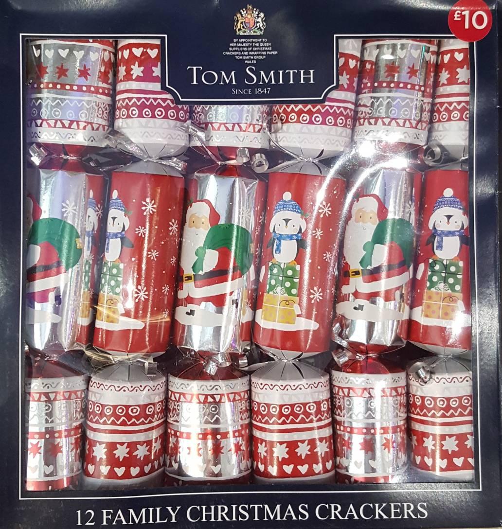 12 Character Family Christmas Crackers Santa & Penguin