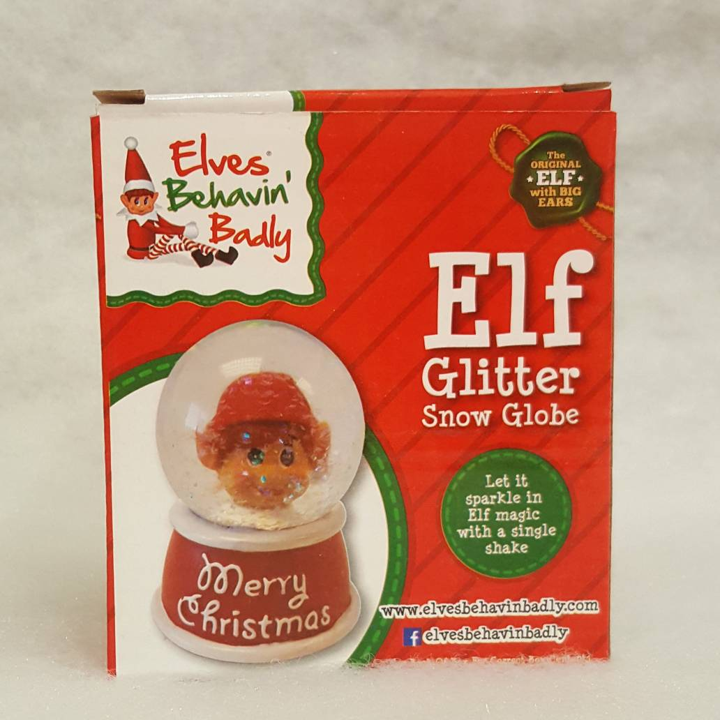 65mm Elf Glitter Snow Globe