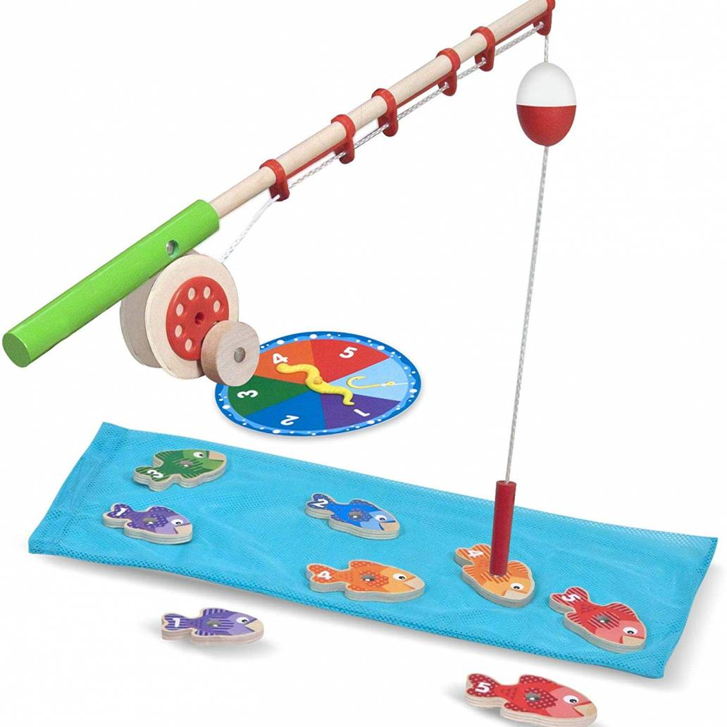 Melissa & Doug Catch and Count Wooden Fishing Game
