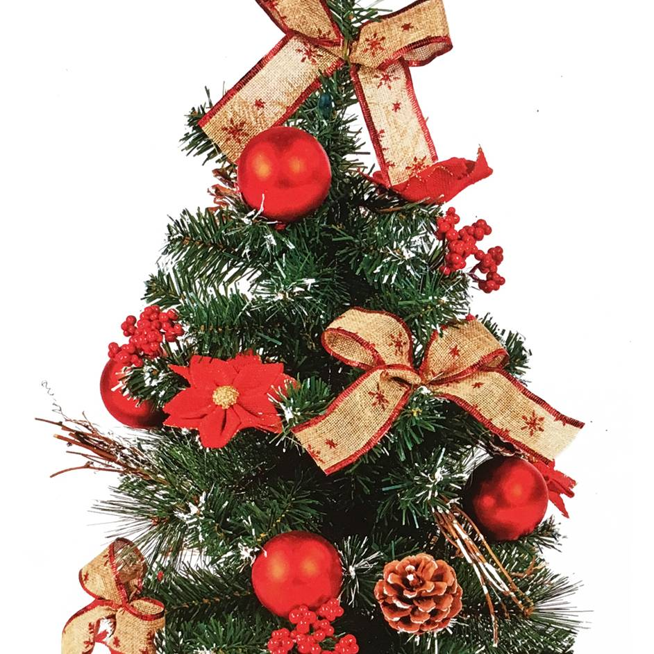 Premier 60cm Red Dressed Christmas Tree