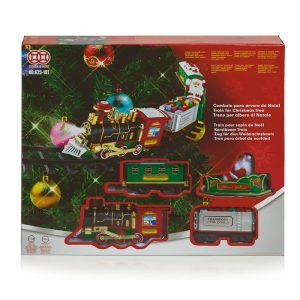 Premier Battery Operated Christmas Tree Train Set with Lights & Sound