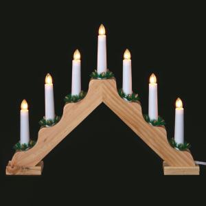 Premier 7-Bulb V Shape Pine Colour Candlebridge