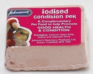 Johnsons Iodised Condition Pek Block For Small Birds
