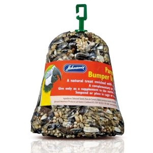 Johnsons Parrot Bumper Bell With Seeds And Honey 150g