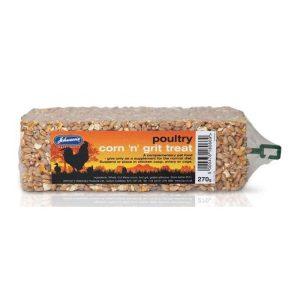 Johnsons Poultry Corn & Grit Treat  Bar 270g