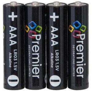 Premier 4pc AAA Battery Pack Hi Tech Alkaline