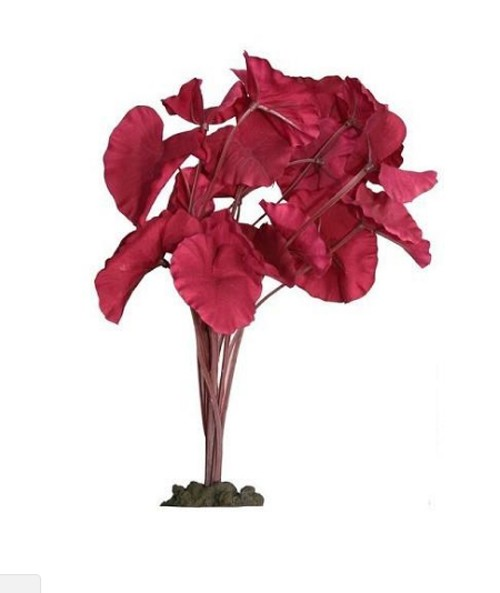 Aqua One Silk Plant Tiger Lotus Red 30cm (24266)