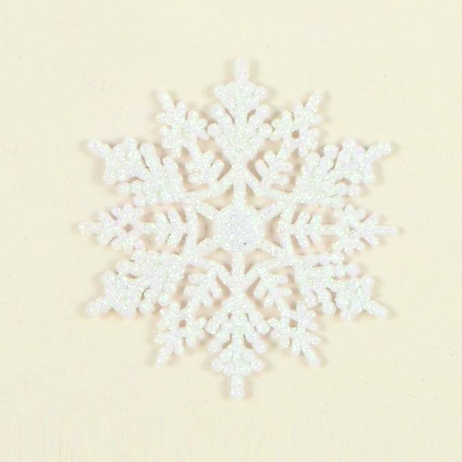 Premier 10pc White Glitter Snowflakes