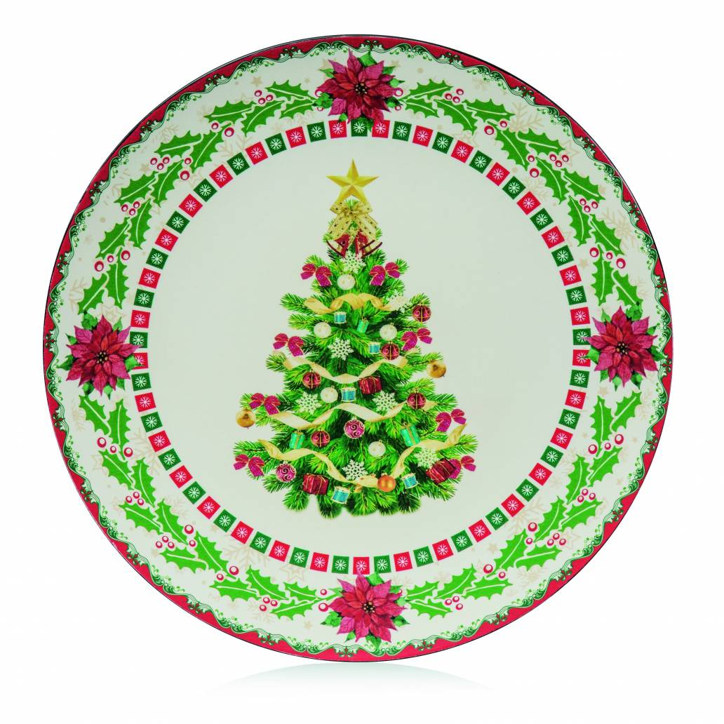 Premier 40cm Dia Christmas Tree Charger Plate