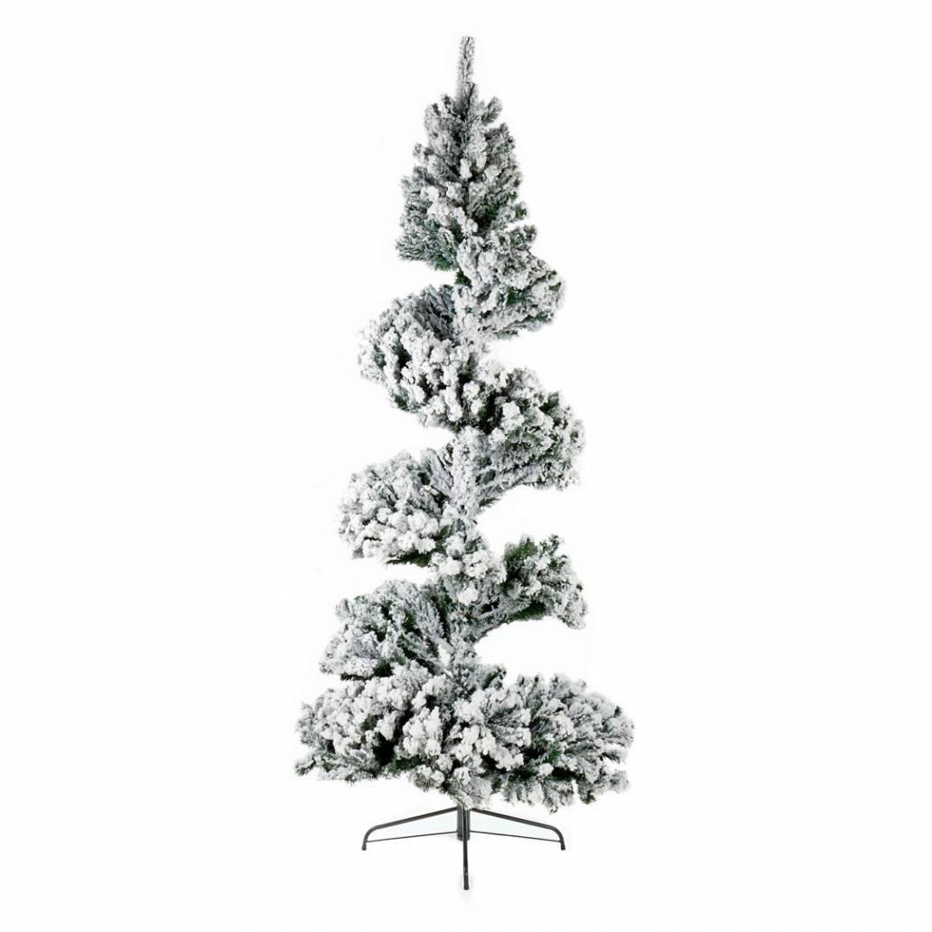Premier 2.4m Spiral Snow Tree Pvc/Flocked/Hinged