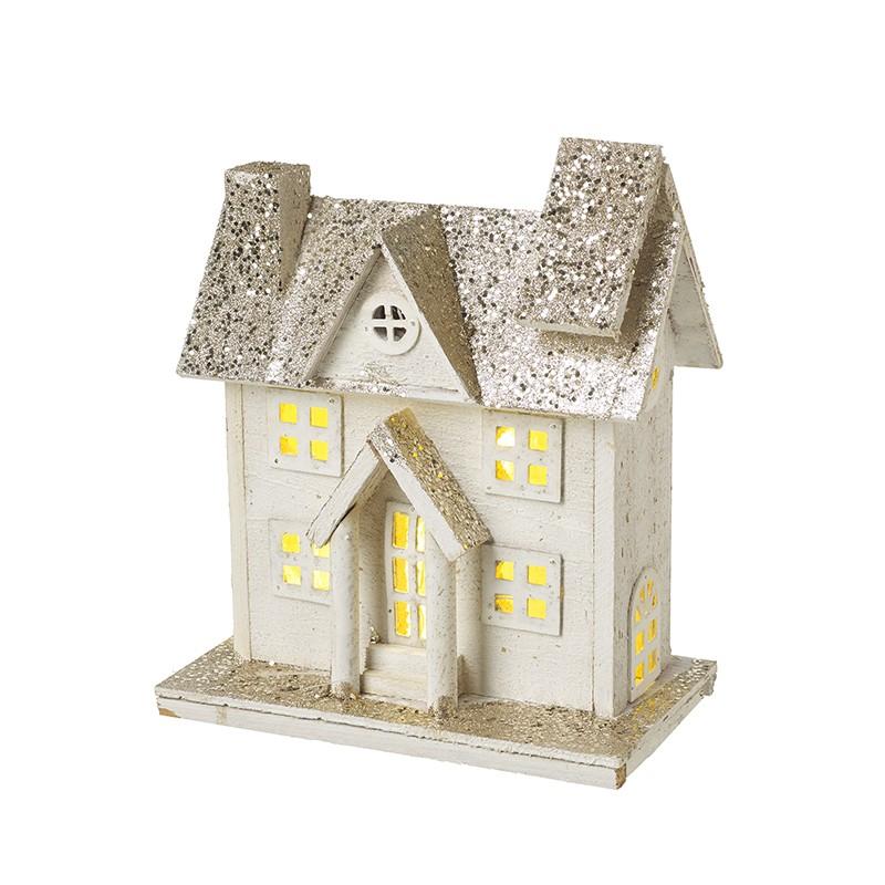 Heaven Sends Wooden Light-Up House