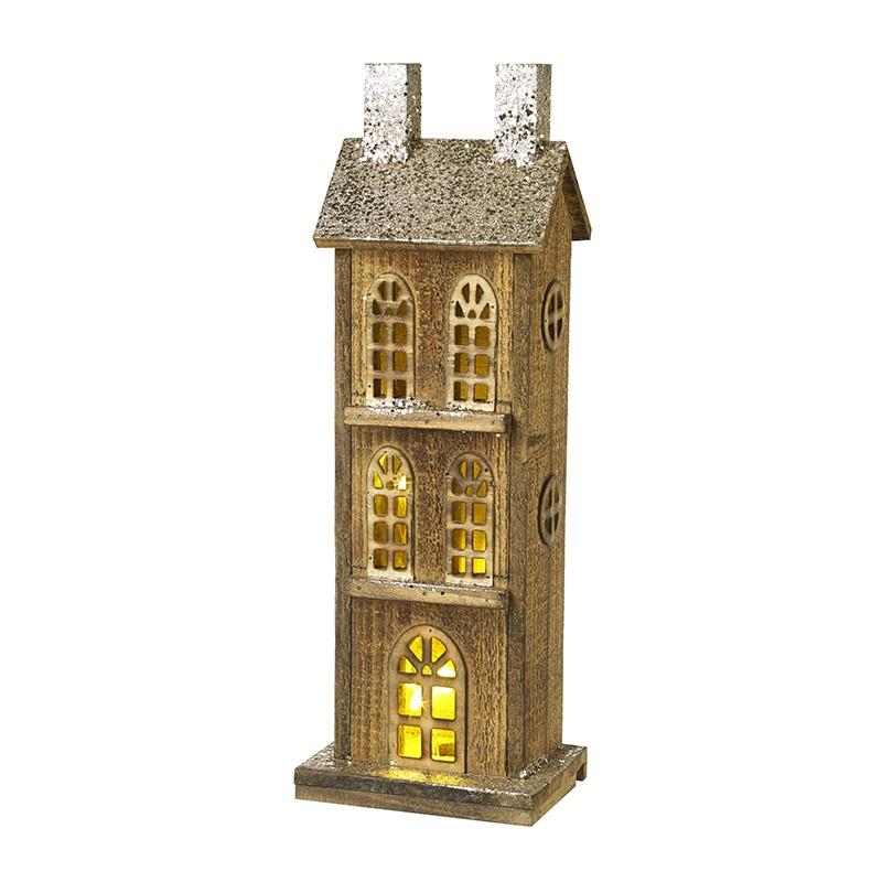 Heaven Sends Small Wooden Light Up House