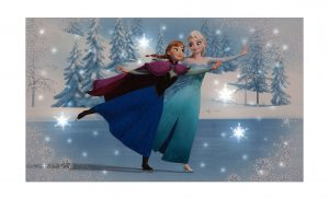 SnowTime 50x30cm B/O 'Elsa & Anna Skating' Disney Frozen Canvas