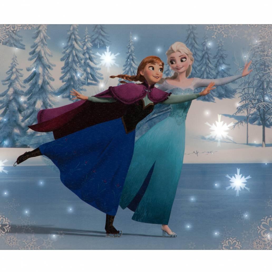 SnowTime 50x30cm B/O 'Elsa & Anna Skating' Disney Frozen Canvas