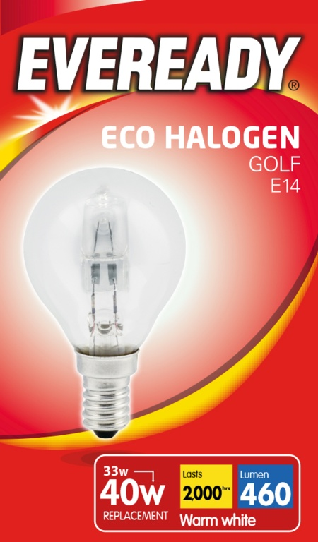 Eveready Eco Golf E14 Clear Bulb