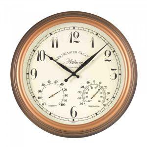 Smart Garden Astbury Wall Clock & Thermometer 15''