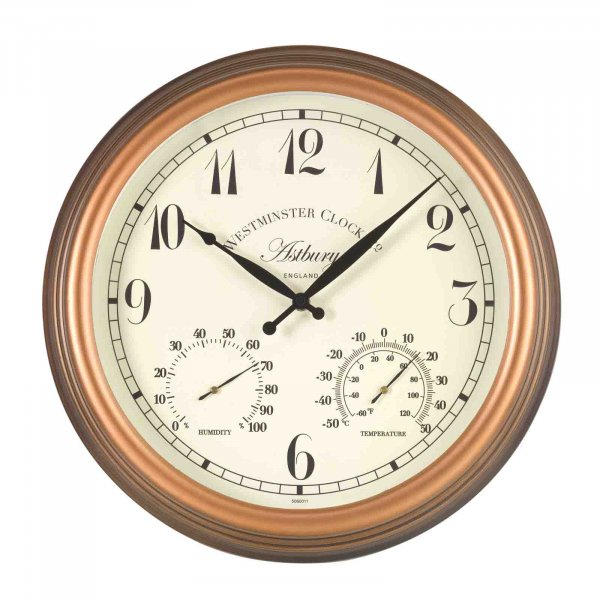 Smart Garden Astbury Wall Clock & Thermometer 15''