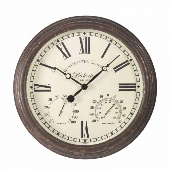 Smart Garden Bickerton Wall Clock & Thermometer 15''