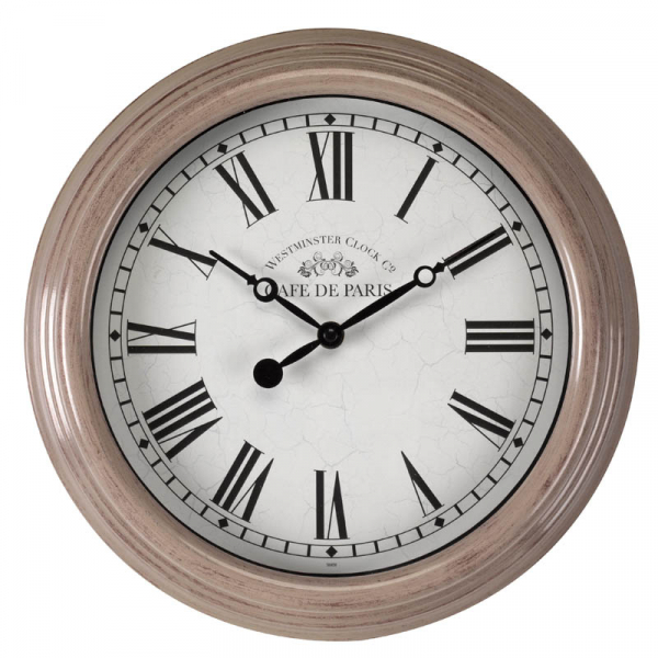 Biarritz Grey & Black Clock - 12in