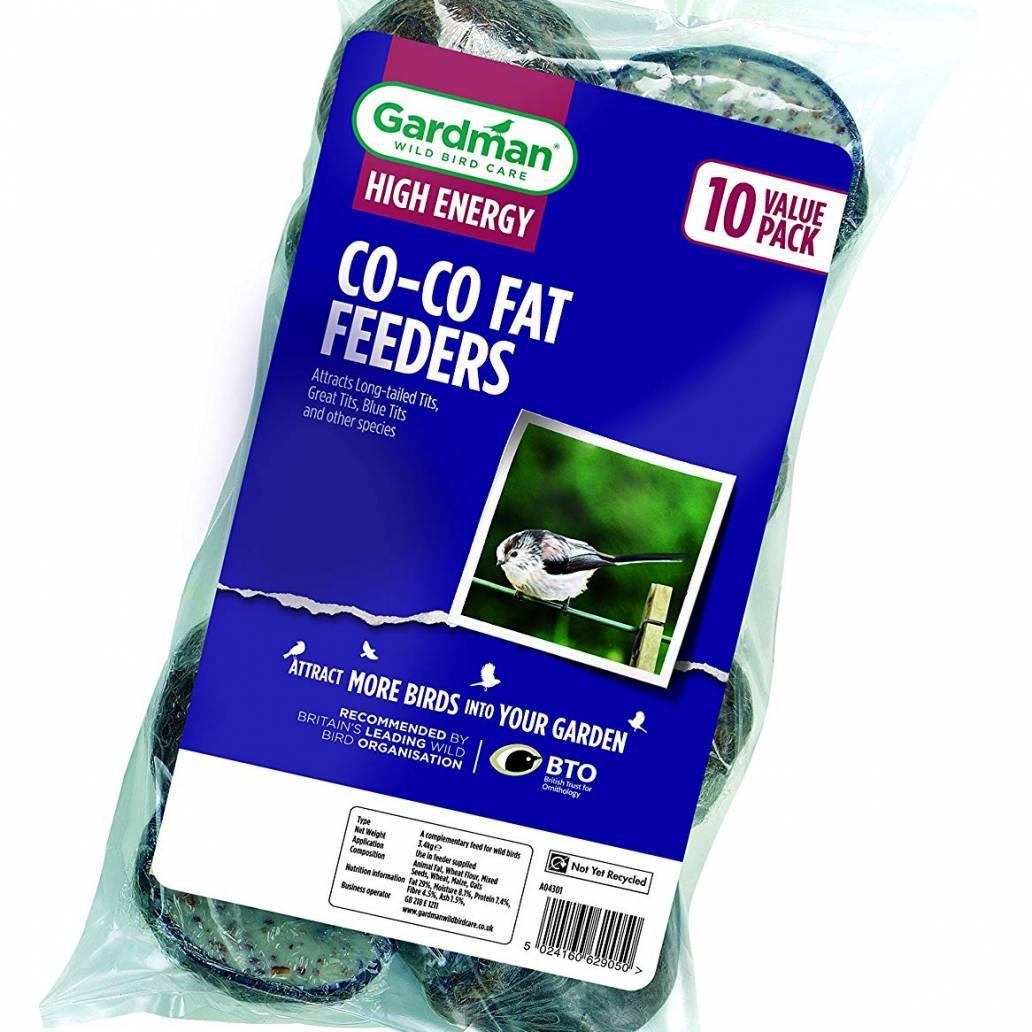Gardman Co-Co Fat Feeders - 10 Pack