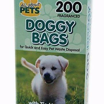 Doggy Bags With Tie Handle 200pk