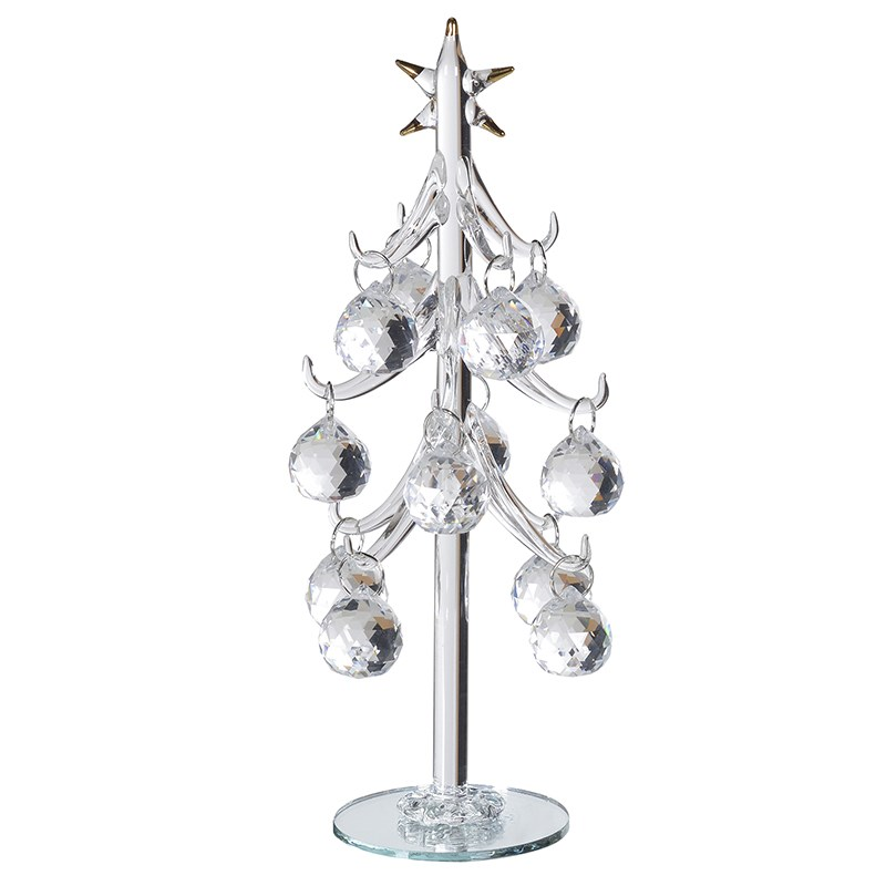 Crystal Ball Mini Glass Xmas Tree