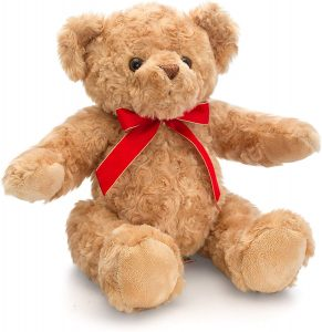 Keel Toys 25cm Traditional Bear W/Ribbon