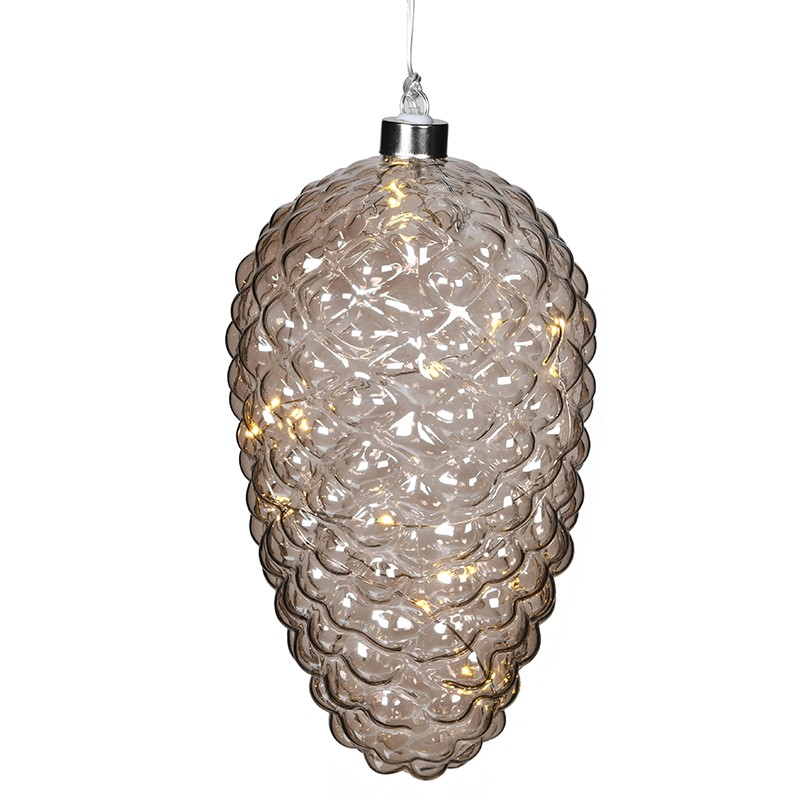 C/H Large Lit Glass Pinecone