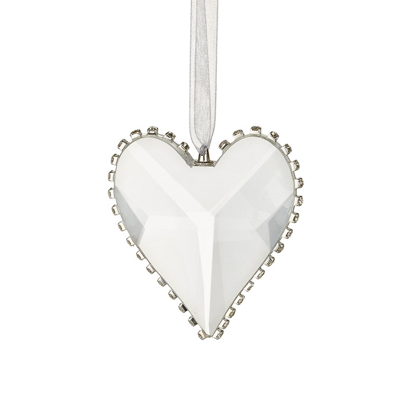 Heaven Sends Cut Glass Heart With Edge Detail