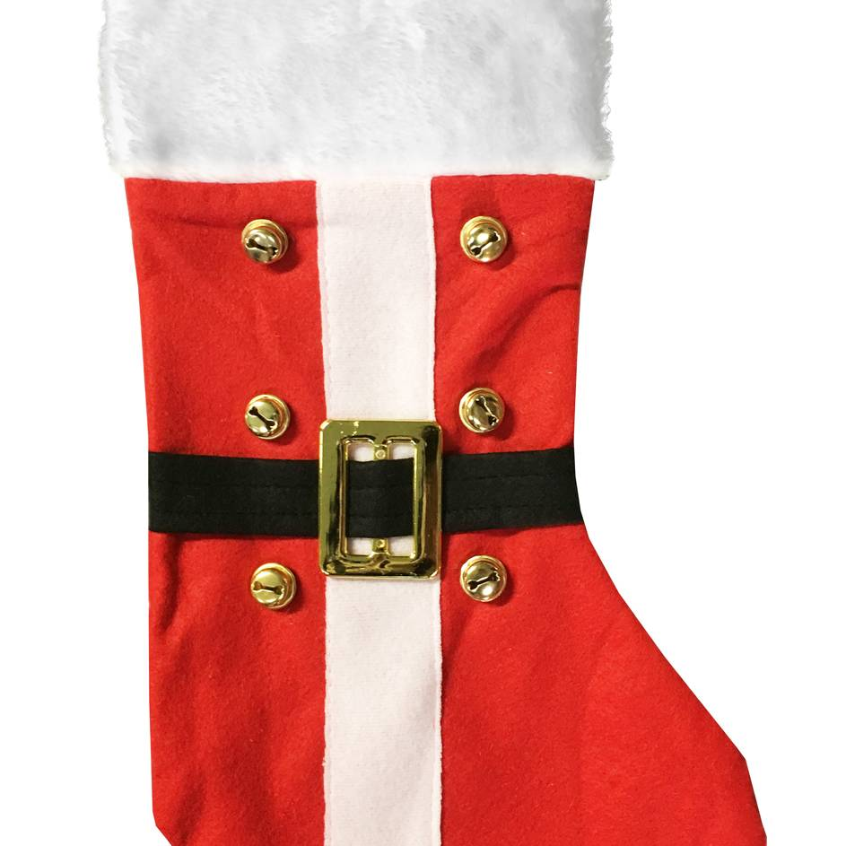 Festive 48cm santa belt stocking