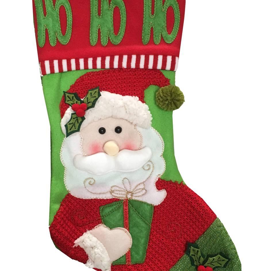 Festive 52.5cm Santa Stocking