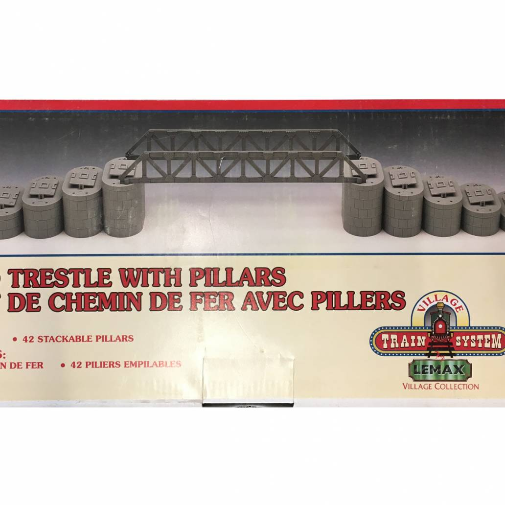 Railroad Trestle With Pillars