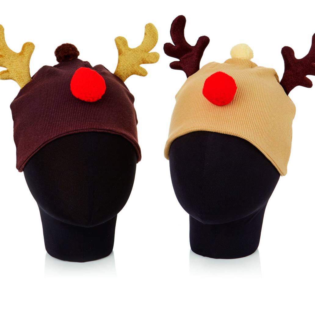Premier Knitted Reindeer Beanie Hat