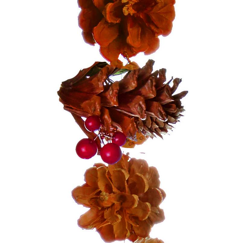 Premier 1.5m Natural Brown Cone with Berries Garland