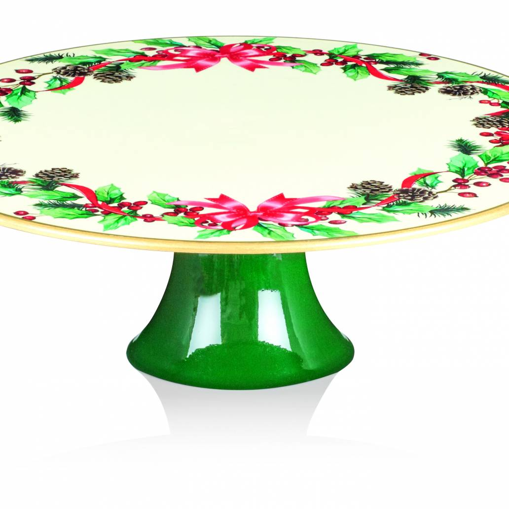 Premier 29x10cm Pine Ribbon Footed Cake Plate