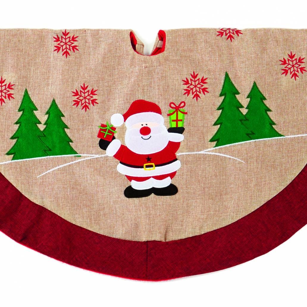 Premier 90cm Jute Tree Skirt With Santa