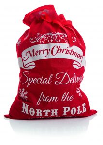 Premier 70x50cm North Pole Santa Sack Red Linen