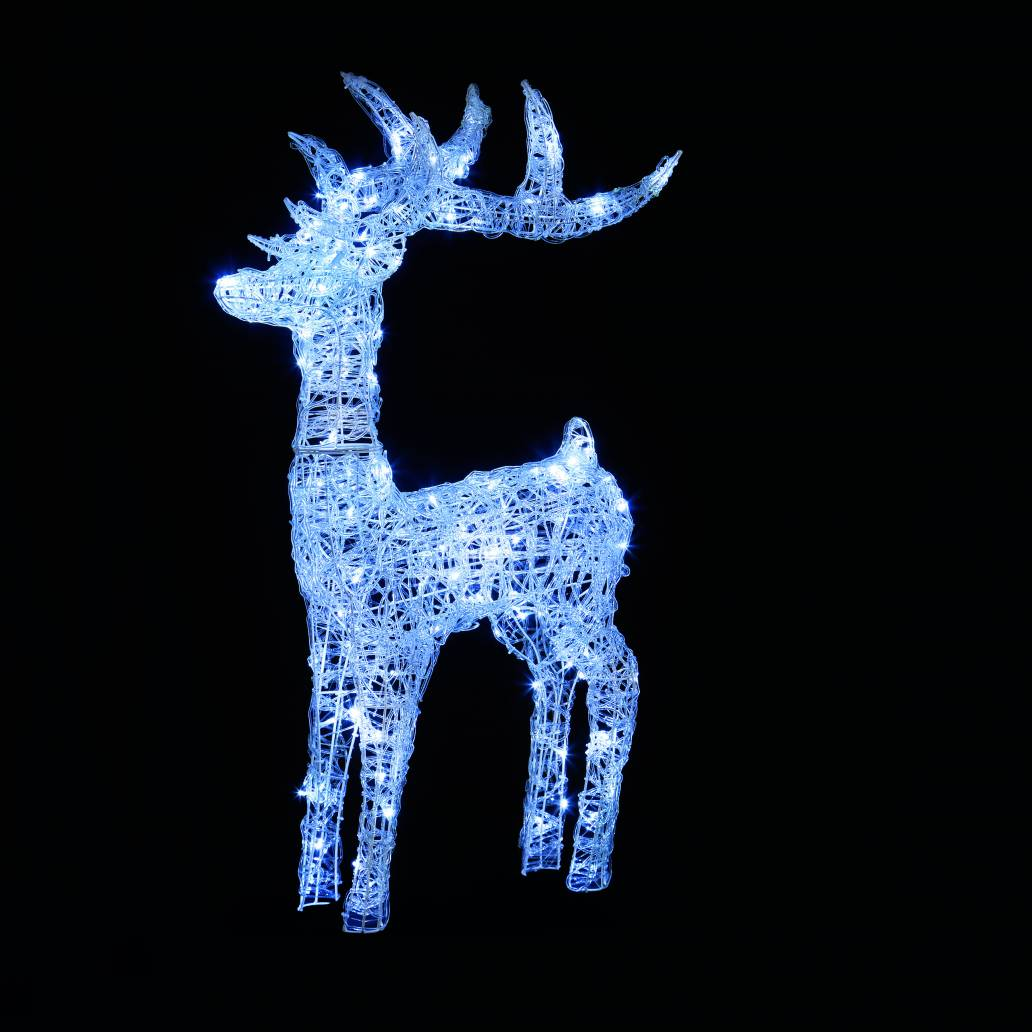 Premier 1.15m Lit Acrylic Reindeer With 160 White LEDs