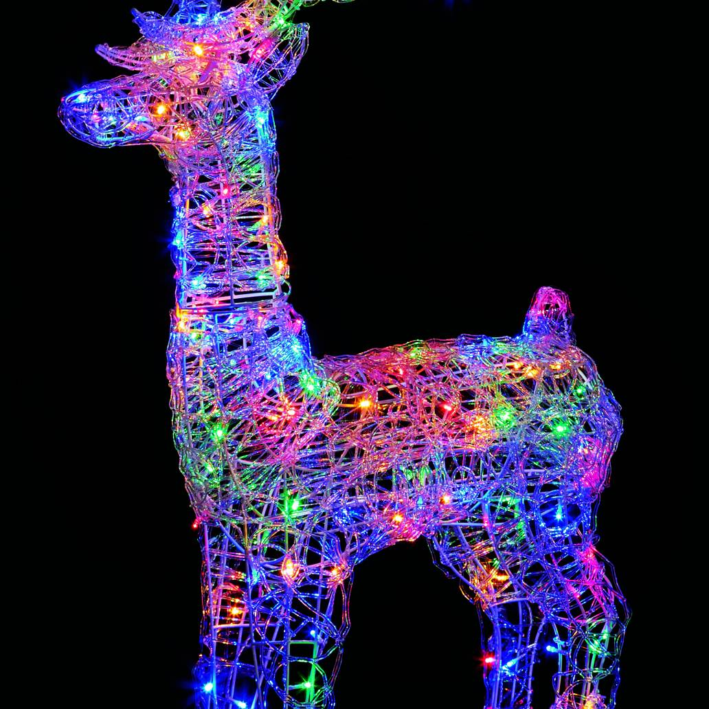 Premier 1.15m Lit Acrylic Reindeer with 160 Multi Coloured LEDs