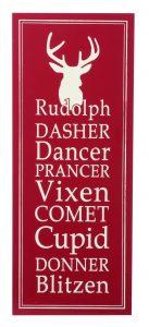 Festive 60cm Rustic Reindeer Name Sign