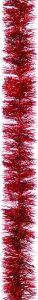 Festive 2m x 75mm Fine Cut Tinsel - Christmas Red