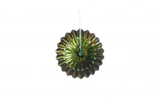 Festive 30cm Copper/Green Fan