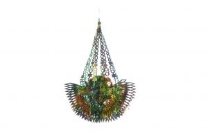 Festive Copper/Green Phoenix Chandelier Hanging Decoration