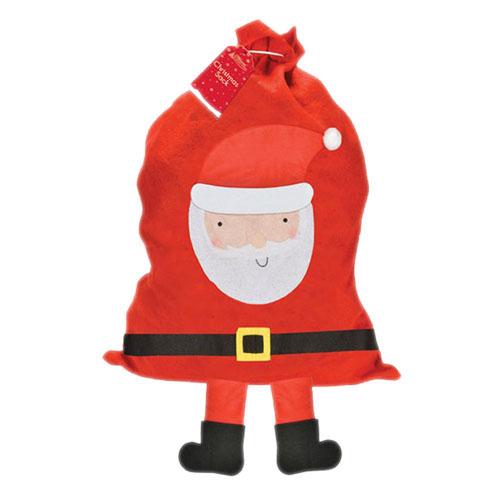 Santa With Legs Red Sack 50 x 92.5 cm