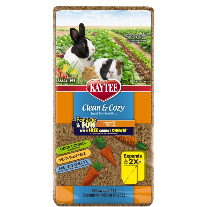 Clean And Cozy Small Animal Natural Pet Bedding - Veg Garden 24.6L