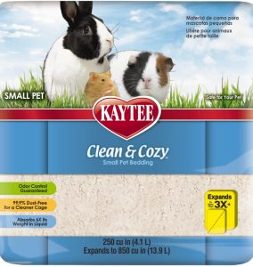 Clean And Cozy Small Animal Natural Pet Bedding - White 24.6L