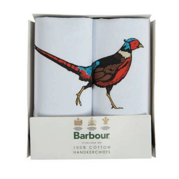 Barbour 2pk Boxed Handkerchiefs - Pheasant