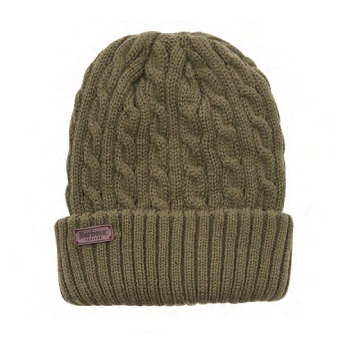 Barbour Balfron Beanie Hat Olive - One Size