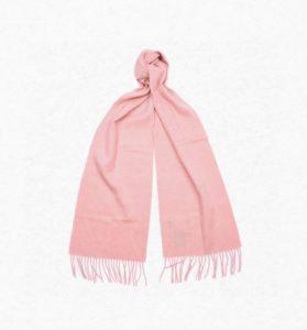 Barbour Ladies Wool Scarf - Blush Pink